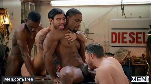 Sensual Hardcore free interracial gay porn  Group Explores The Erotic